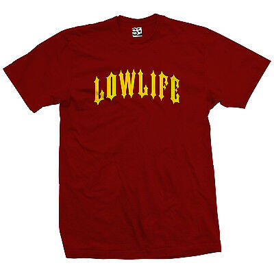 Low Life Outlaw T-Shirt - LowLife Lowrider Metal Tee w All Sizes Car Club Colors