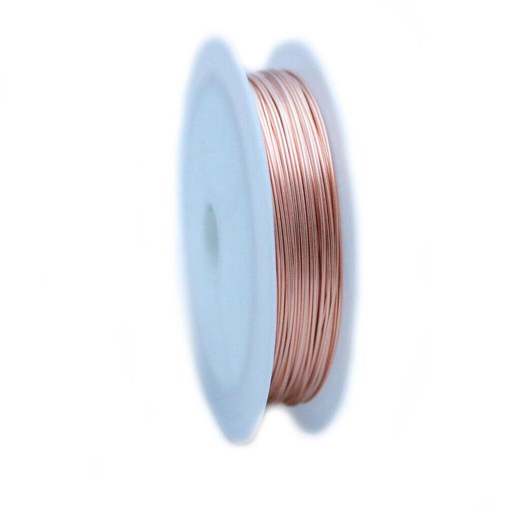 Round 99.9/% Pure Copper Wire Half Hard 24 Gauge CDA #110-5FT from Craft Wire