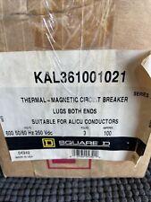 Square D Kal361001021 Kal36100 100amp 600volt 3pole Circuit Breaker New In Box