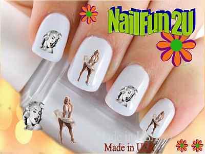 """12 Decals Nail Art RTG Set#558 """"Marilyn Monroe 2"""" Waterslide Transfer Stickers"""
