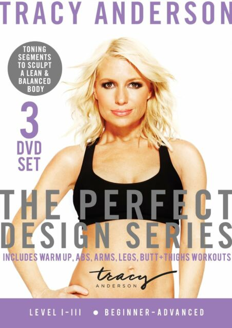 TRACY ANDERSON THE PERFECT DESIGN SERIES 3 DVD SET LEVEL 1-3 NEW SEALED WORKOUT