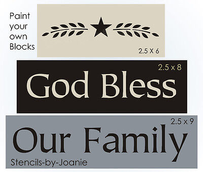 Joanie Stencil Give Us Daily Bread Prim Willow Branch Country Family Home Sign