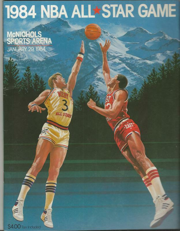 1984 1984 1984 NBA All Star Match Programme Denver Isiah Thomas MVP f64843