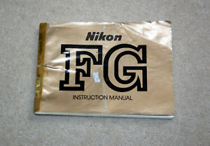 Nikon FG User / Instruction Manual