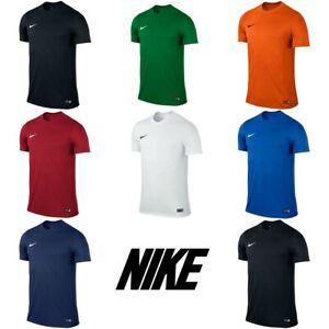Nike-Park-VI-Boys-T-Shirts-Football-Kids-Top-Sports-Training-Jersey-S-M-L-XL