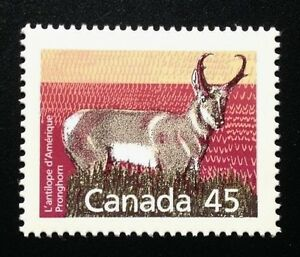 Canada-1172-SP-14-4x13-8-MNH-Pronghorn-Definitive-Stamp-1990