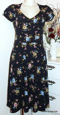 Vive Maria Kleid blau Blumen Gürtel Floral Majestic Rose Dress Dark Blue 31413