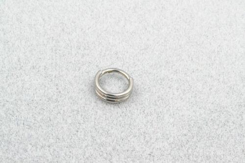 50pcs Nose Septum Ring Segment Clicker Hinged Seamless Ear Hoop Daith Piercing