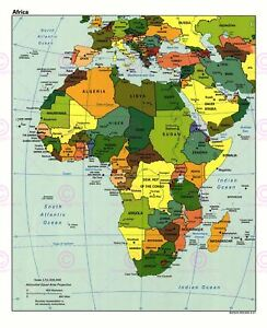Map-Geopolitical-Cia-1997-African-States-Old-Large-Replica-Canvas-Art-Print