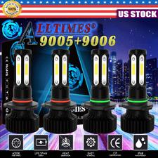 4x 9005 9006 Led 4 Sides Headlight Bulbs Kit High Low Beam Bright White 6000k Ct