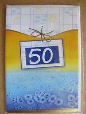 Grußkarte Zum Geburtstag Alles Gute 50 Jahre Aufklappbar  C0091