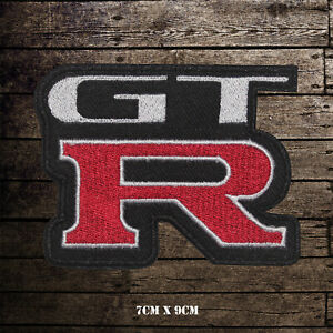 Motor-Sport-Racing-Logo-GTR-Embroidered-Iron-On-Sew-On-Patch-Badge