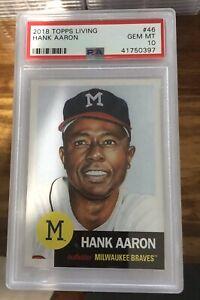2018-Topps-Living-Hank-Aaron-Baseball-Card-46-PSA-GEM-MINT-10-quantity