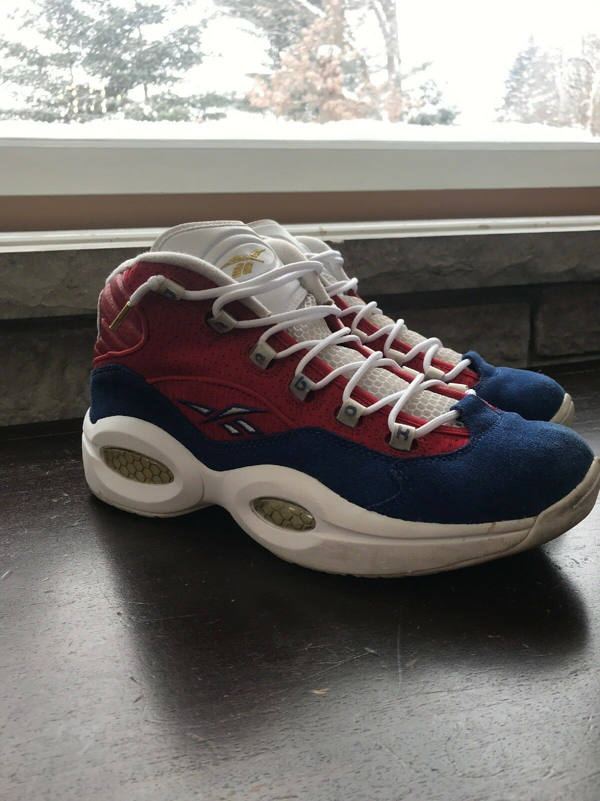 8027ef1ade3bb Reebok Question Allen Iverson Banner Size 11 Used Good Condition Extremely  Rare