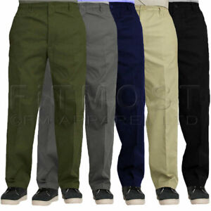 Mens-Elasticated-Waist-Work-Casual-Rugby-Trousers-Pants-Smart-Rugby-Trousers