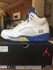 hot sale online c83b1 66c7e Image is loading Nike-Air-Jordan-Retro-5-Laney-Size-9