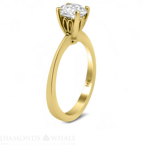 Round Solitaire Enhanced Diamond Ring 0.45 CT SI2 F Yellow gold 18K Engagement