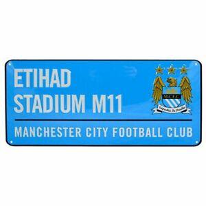 Manchester-city-FC-039-Stade-Etihad-039-Metal-Rue-Signe-Bleu-Football-Homme