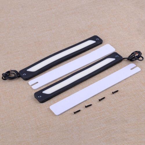 Running Driving Daylight Fog Light Strip 2Pcs 12V White LED DRL+Adhesive Tap