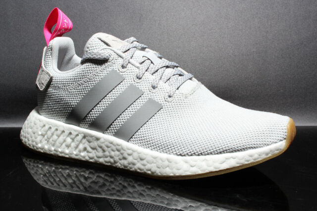 e03b7197de200 adidas NMD R2 Womens By9317 Grey Shock Pink White Size 9