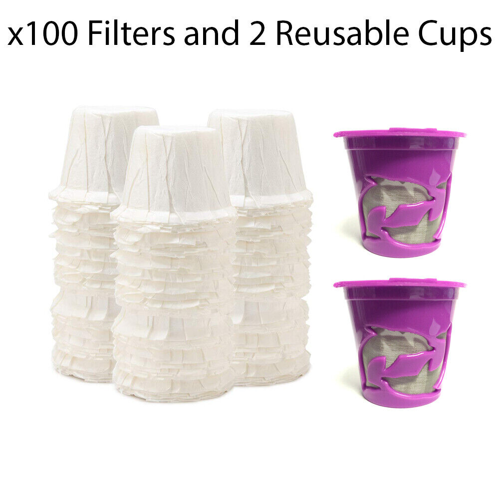 x100 Paper Filters & 2 K cups