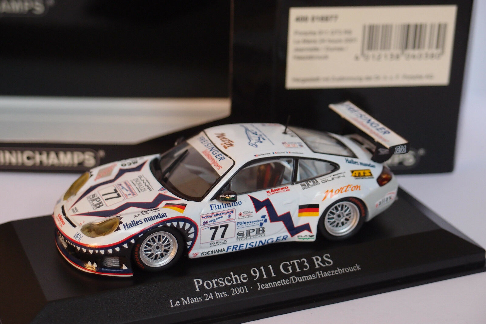 MINICHAMPS T2M PORSCHE 911 GT3 RS RS RS  77 LE MANS 2001 1 43 a05daf