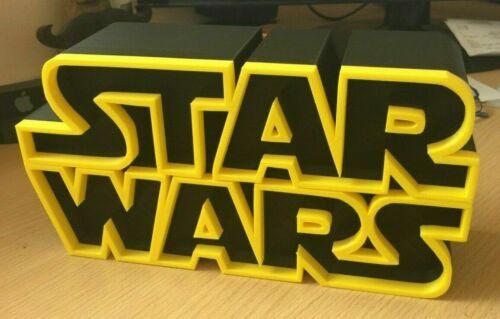 Star Wars Logo 3D Printed LARGE 25CM WIDE