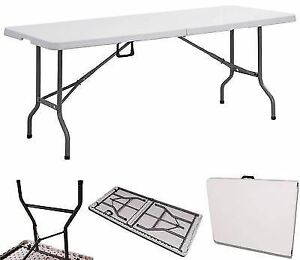 Phenomenal Details About New 6Ft Folding Table Catering Bbq Camping Party Stall Garden Indoor Outdoor Leg Spiritservingveterans Wood Chair Design Ideas Spiritservingveteransorg
