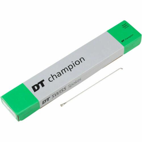 DT Swiss Champion Bicycle Spoke 2.0mm//306mm//J//bend//Silver//Box of 100