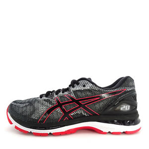 Asics GEL-Nimbus 20  T800N-002  Men Running Shoes Black Red Alert  f7c5f4db14389