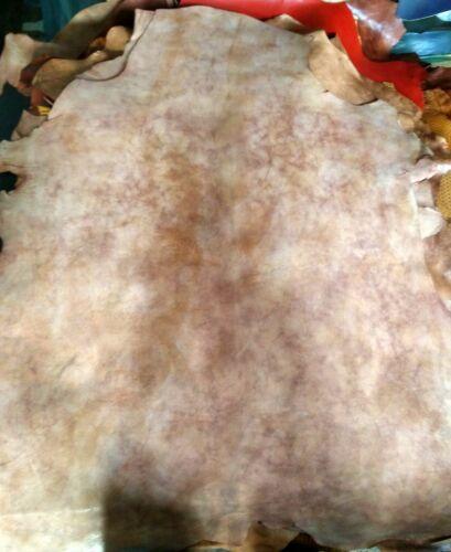 Vera pelle di pecora invecchiata con cera anellina pellami pellame cuoio