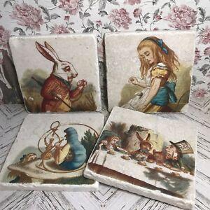 Vintage Alice Coaster Alice in Wonderland Gift. Alice in Wonderland Coaster