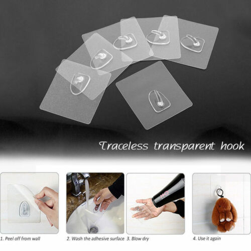 Anti-skid Hooks Reusable Strong Sticky Traceless Transparent Hook