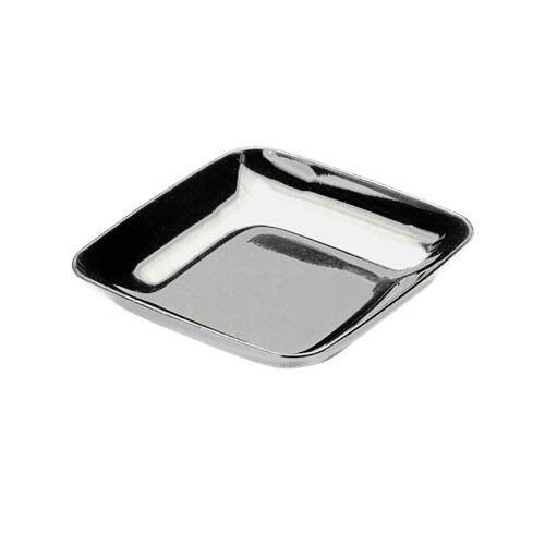 """100 Mini 2.5/"""" Plata Mozaik degustación entremeses Placa de plástico fuerte Reutilizable"""