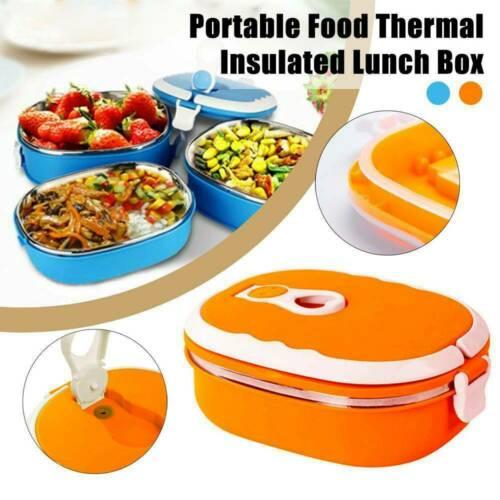 Details about  /1pc Food Box School Lunch Box Thermal  Insulated Case Food Container US