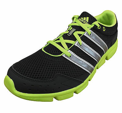adidas Men's Performance Breeze 101 Light Running Trainers Shoes Black/Lime