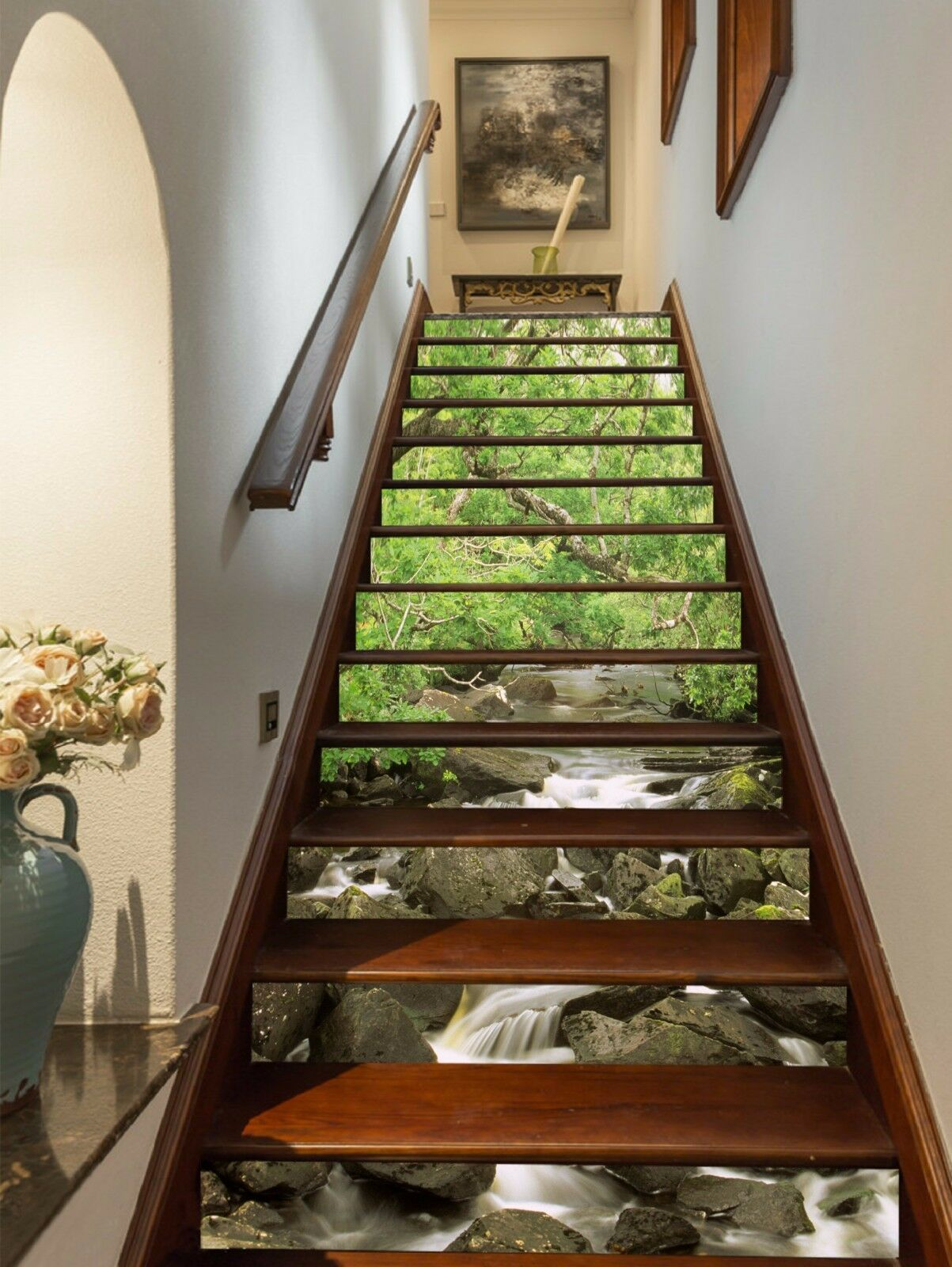 3D Forest Stone 785 Stair Risers Decoration Photo Mural Vinyl Decal Wallpaper AU
