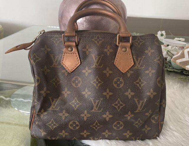 Authentic LOUIS VUITTON Speedy 25 Hand Bag Monogram Leather Brown