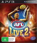 AFL Live 2 Ps3 PlayStation 3 Includes Manual Great