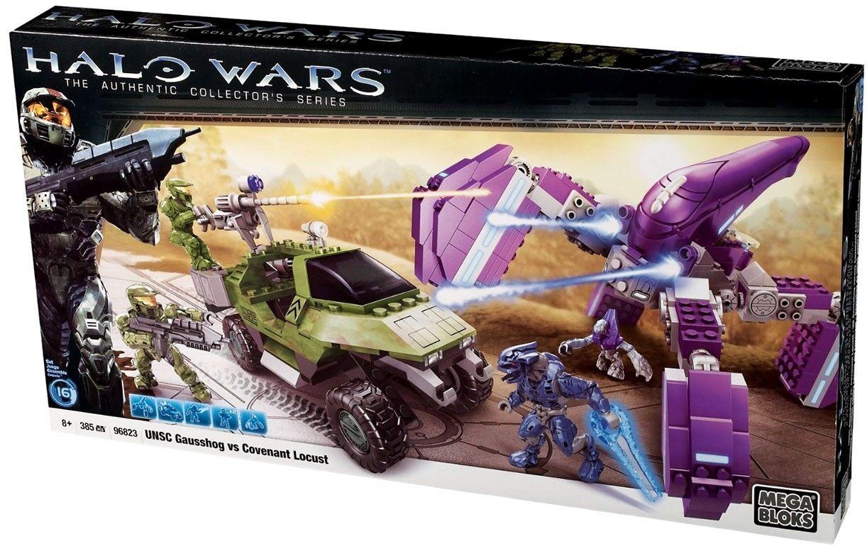 Mega Bloks Halo UNSC UNSC UNSC Gausshog Vs. Covenant Locust Set f29d7b
