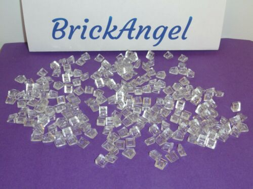 NEW LEGO Translucent Clear 1X1X2//3 30º Slope Bricks X300 pcs mini slopes 54200