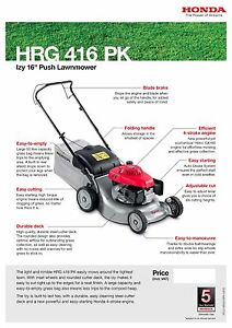 honda izy hrg 416 pk push mower 5054018476475 ebay rh ebay co uk honda izy service manual pdf honda izy owners manual pdf