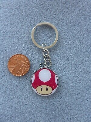 Super Mario Bros Mushroom Keyring Kinoko Enamel Bag Charm Birthday Gift  # 40
