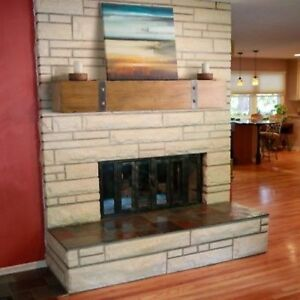 Wood Fireplace Mantel Rustic 4 Foot Solid Floating Home Living