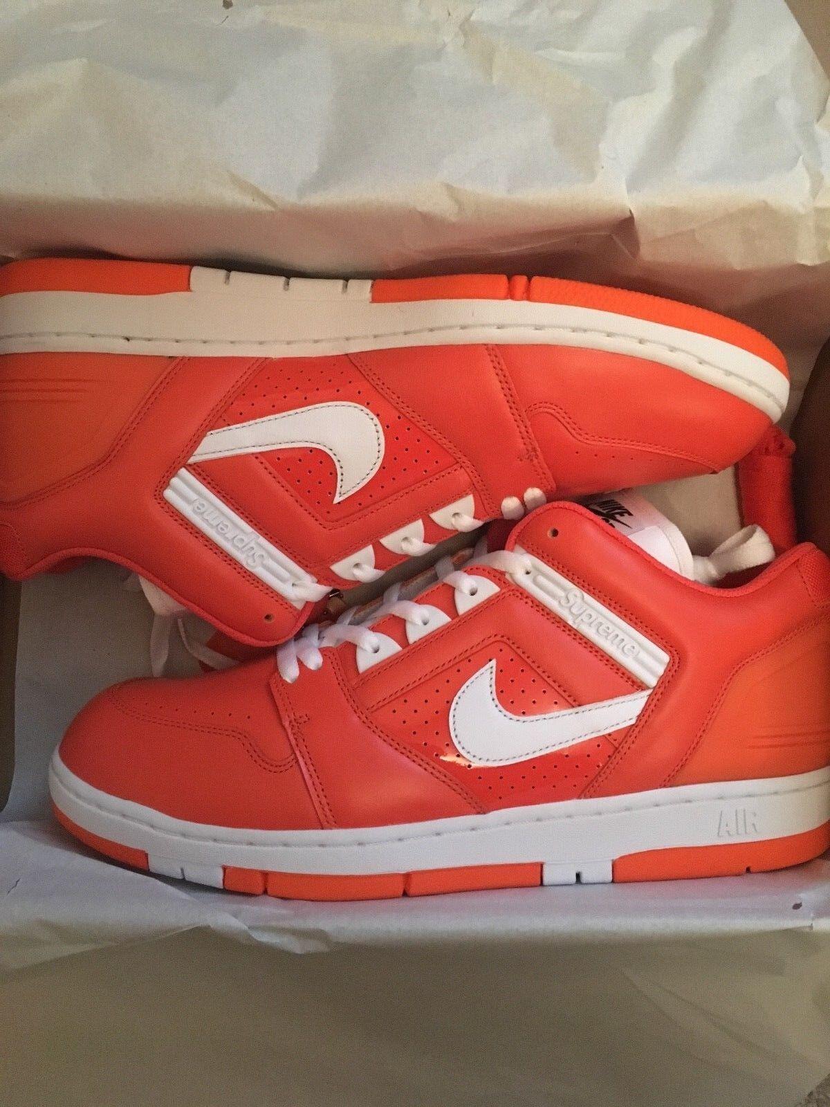3 Pairs Of Supreme Air Force 2  Teal + orange + Brown UK12