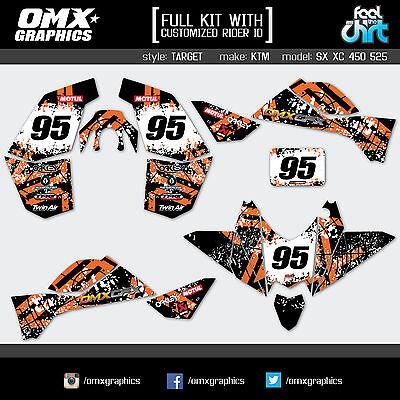 KTM SX XC 450 525 ATV Quad graphics decals stickers kit TARGET