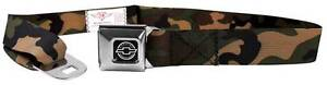 Seatbelt Men Canvas Web Military Webbing Chevy Chevrolet Camo Olive Logo Camaro