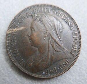 Monnaie-du-Royaume-Uni-penny-Victoria-034-old-head-034-1897