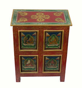 Mobile-tibetain-chevet-54x43cm-Dipinto-A-Mano-Buddha-Tibet-Nepal-25973