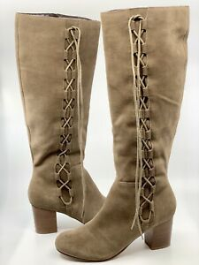 Sole Society Women S Arabella Knee High Boho Lace Up Boot